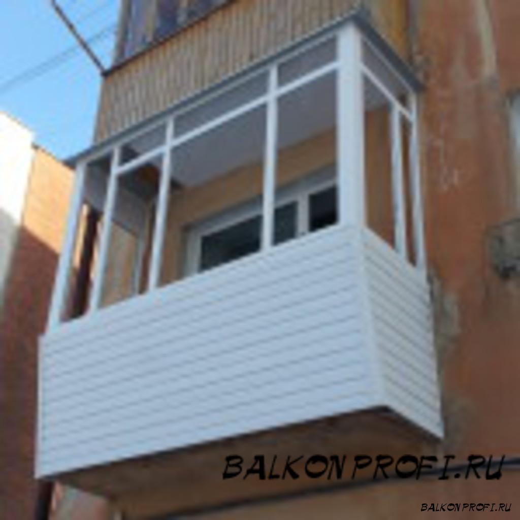 Балконы с выносом, установка крыш.