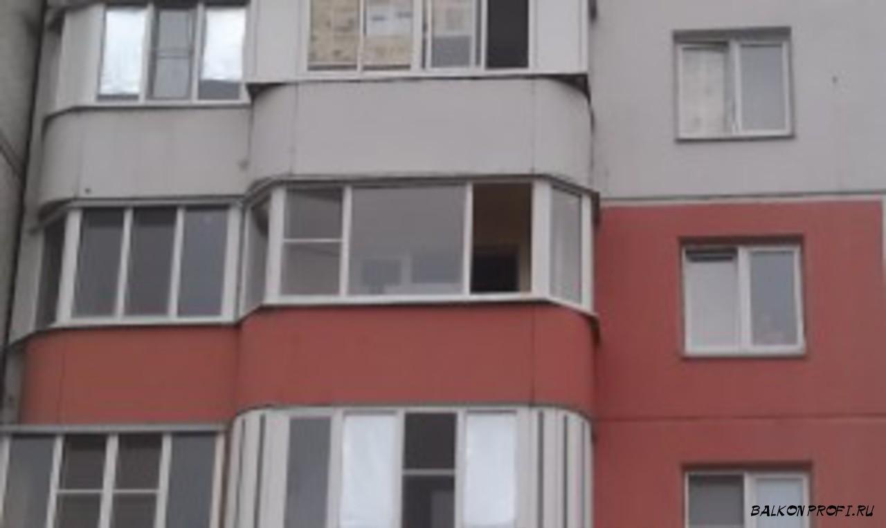 ПОЛУКРУГЛЫЙ БАЛКОН С ПАНОРАМНЫМ СТЕКЛОПАКЕТОМ (ул. Заозерная)